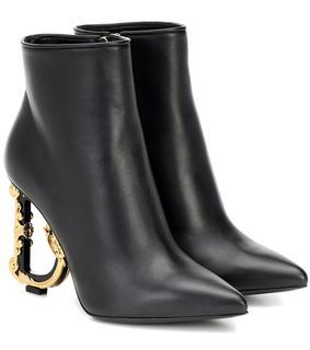 Dolce & Gabbana - Ankle Boots Devotion aus Leder