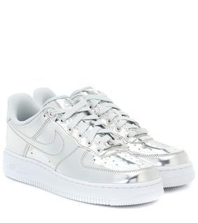 Nike - Sneakers Air Force 1 aus Metallic-Leder