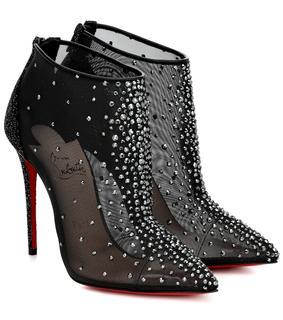 Christian Louboutin - Verzierte Ankle Boots Costella 100