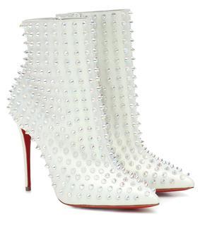 Christian Louboutin - Exklusiv bei Mytheresa – Ankle Boots Snakilta 100 aus Leder