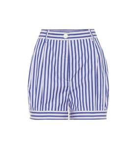 Prada - Gestreifte Shorts aus Baumwolle