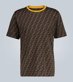 Fendi - T-Shirt aus Baumwolle mit Logo
