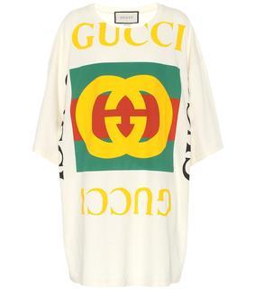Gucci - Bedrucktes T-Shirt aus Baumwolle