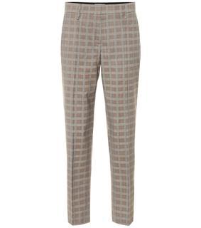 Prada - Karierte Hose aus Wolle