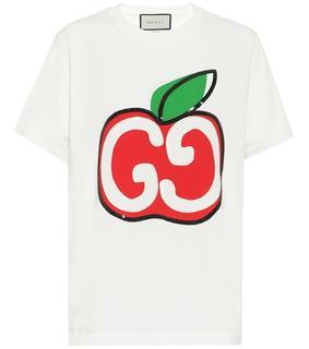Gucci - Verziertes T-Shirt aus Baumwolle
