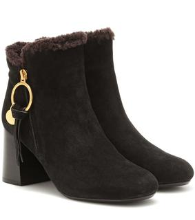 See by Chloé - Ankle Boots Louise aus Veloursleder