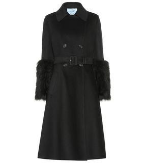 Prada - Mantel aus Wolle und Angora