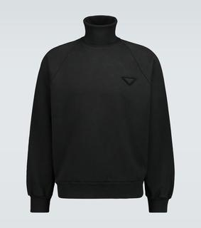 Prada - Oversize-Sweatshirt mit Rollkragen