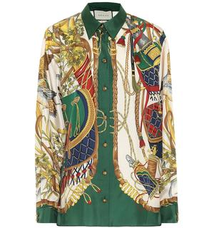 Gucci - Bedrucktes Hemd aus Seide