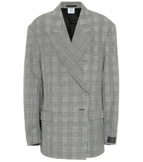 Vetements - Karierter Blazer aus Wolle