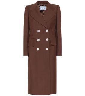 Prada - Mantel aus Mohair und Wolle