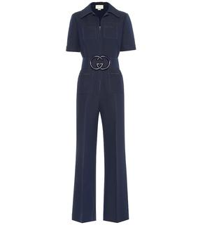 Gucci - Jumpsuit aus Wolle und Seide