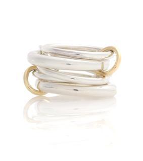 Spinelli Kilcollin - Ring Vela aus Sterlingsilber mit 18kt Gelbgold