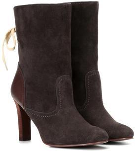 See by Chloé - Ankle Boots Lara aus Veloursleder