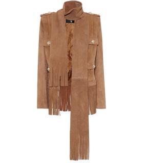 Balmain - Jacke aus Veloursleder