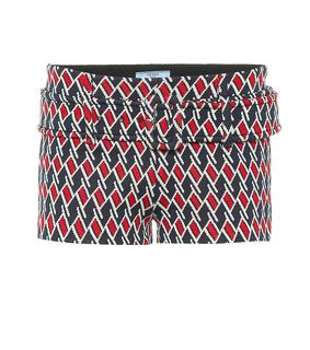 Prada - Shorts aus Jacquard-Strick