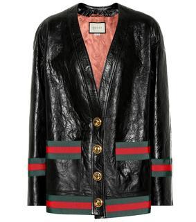Gucci - Verzierte Lederjacke