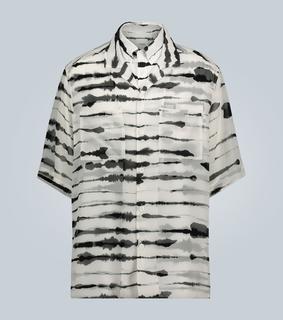Burberry - Bedrucktes Oversize-Hemd aus Seide