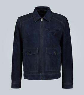 Prada - Jacke aus Veloursleder