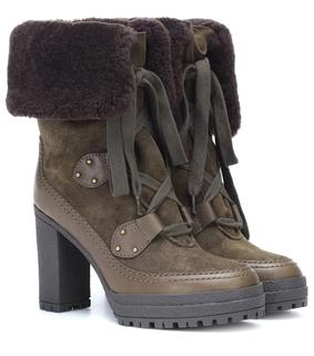 See by Chloé - Ankle Boots Verena aus Veloursleder