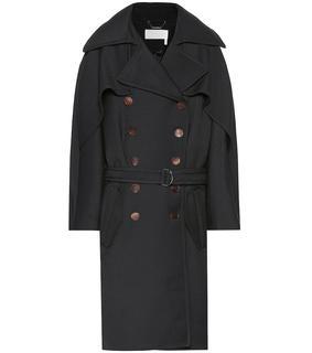 Chloé - Mantel aus Wolle und Seide