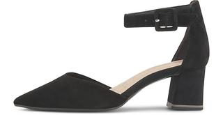 Tamaris - Velours-Pumps in schwarz, Pumps für Damen