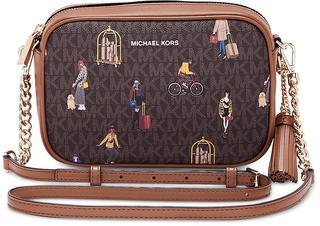 MICHAEL KORS - Camera-Bag Jet Set Medium in dunkelbraun, Umhängetaschen für Damen