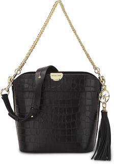 MICHAEL KORS - Schultertasche Bea Bucket Medium in schwarz, Schultertaschen für Damen