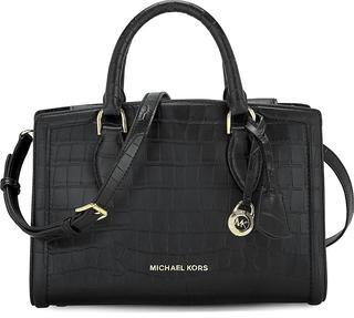 MICHAEL KORS - Handtasche Zoe Md Satchel in schwarz, Henkeltaschen für Damen