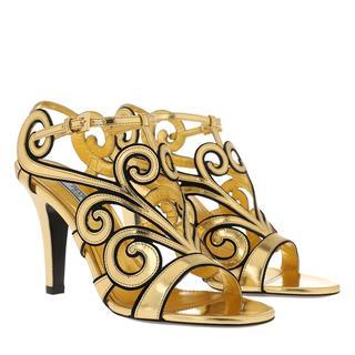 Prada - Pumps - Mirror Sandals Leather Gold - in gold - für Damen