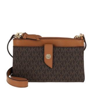 MICHAEL KORS - Umhängetasche - Charm MD Tab Doublezip Phone Crossbody Bag Brown Acorn - in braun - für Damen