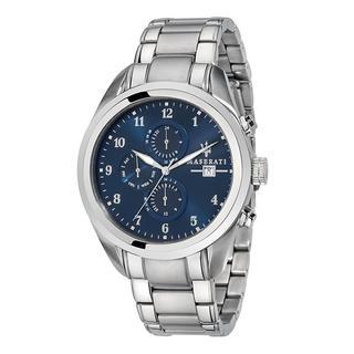 Maserati - Uhr - Watch Hau Traguardo 45mm Silver/Blue - in blau - für Damen
