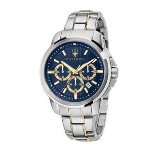 Maserati - Uhr - Watch Hau Successo 44mm Silver/Gold - in blau - für Damen