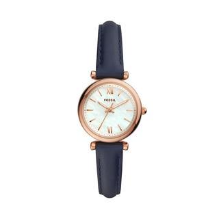 Fossil - Uhr - Carlie Mini Strap Watch Rose Gold - in roségold - für Damen