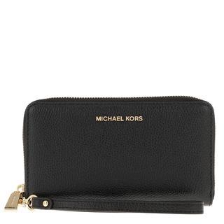MICHAEL KORS - Portemonnaie - Jet Set Large Flat Multifunction Phone Case Black - in schwarz - für Damen