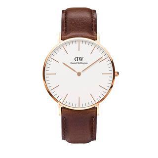 Daniel Wellington - Uhr - Classic Bristol Darkbrown - in braun - für Damen