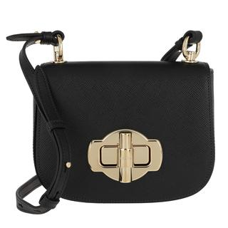 Prada - Umhängetasche - Saffiano Lock Crossbody Bag Leather Black - in schwarz - für Damen