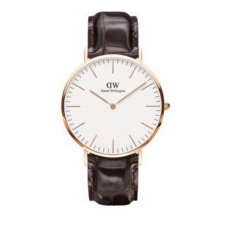 Daniel Wellington - Uhr - Classic York Darkbrown - in braun - für Damen