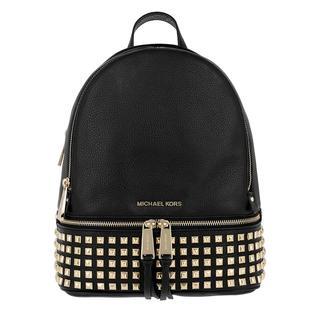 MICHAEL KORS - Rucksack - Rhea Zip Medium Pyr Stud Backpack Black/Gold - in schwarz - für Damen
