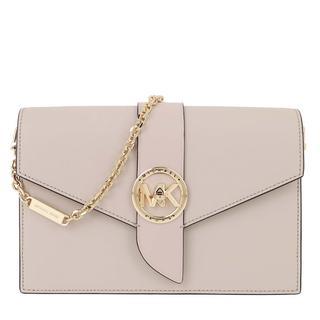 MICHAEL KORS - Umhängetasche - Charm MD Wallet On Chain Crossbody Bag Light Sand - in beige - für Damen