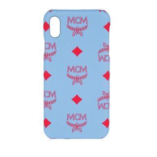 MCM - Smartphone Case - Visetos Original Phone Case Blue Bell - in blau - für Damen
