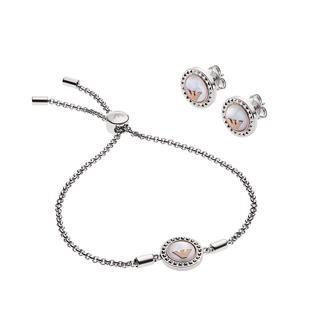 Emporio Armani - Ohrringe - EGS2652040 Bracelet/Earrings Silver - in silber - für Damen