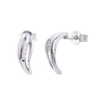 BELORO - Ohrringe - Earring Diamonds Silver - in weißgold - für Damen