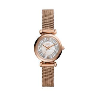 Fossil - Uhr - Carlie Mini Watch Rose Gold - in roségold - für Damen