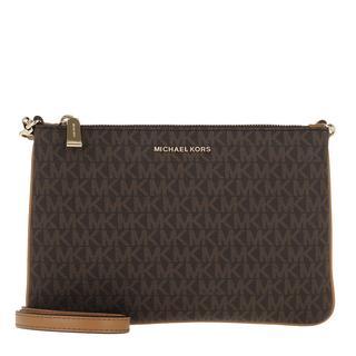 MICHAEL KORS - Umhängetasche - Large Double Pouchette Crossbody Bag Brown - in braun - für Damen