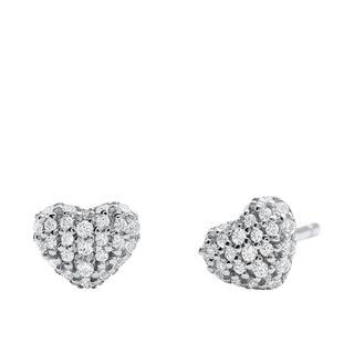 MICHAEL KORS - Ohrringe - MKC1119AN040 Pave Heart Stud Silver - in silber - für Damen