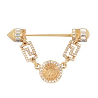 Versace - Ohrringe - Medusa Slide Crystal/Oro - in gold - für Damen