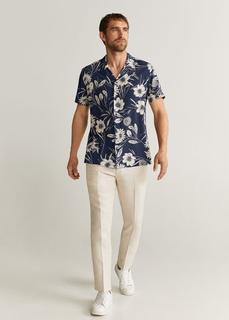 MANGO MAN - Hemd mit hawaii-print