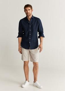 MANGO MAN - Bermuda-shorts aus segeltuch mit baumwolle