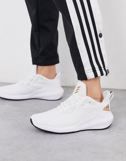 adidas Performance - adidas Running – Alphabounce 3 – Weiße Sneaker